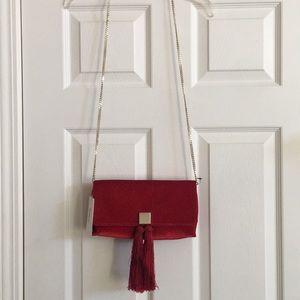 Ted Baker red Velour bag